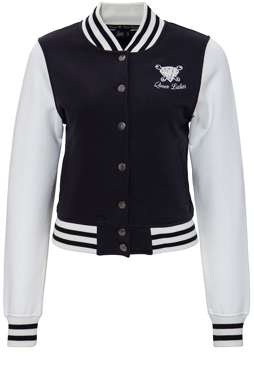 College Mit Frottier Stickerei Queen Kerosin Jacket W2DHYE9I