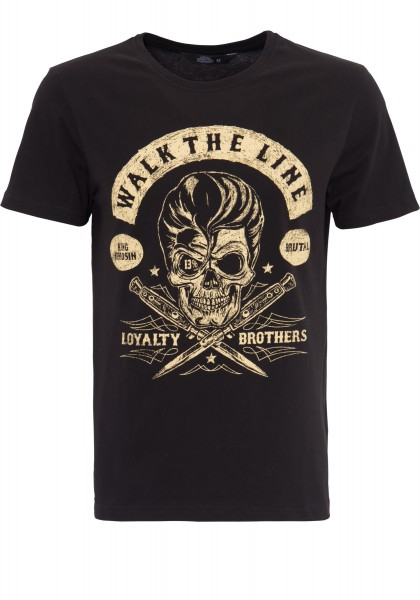 KING KEROSIN T-Shirt mit Skull Print Walk the Line