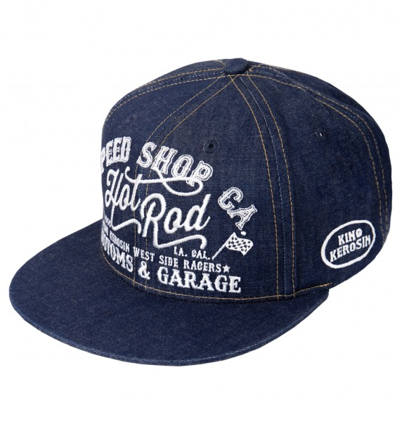 KING KEROSIN Snapback Cap im coolen Denim-Style Hot Rod