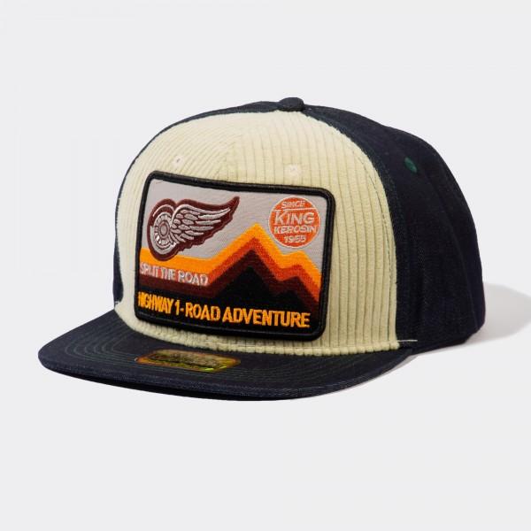Snapback Cap mit Cord-Front »Road Adventure«