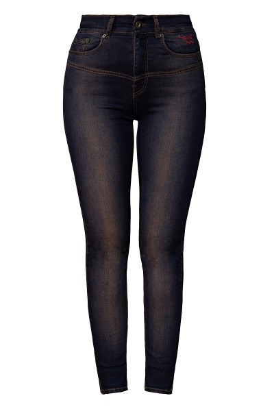 QUEEN KEROSIN High Waist Jeanshose im 5 Pocket Design Betty