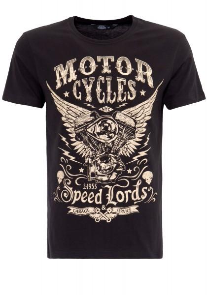 KING KEROSIN T-Shirt mit Front Print Motor Cycles
