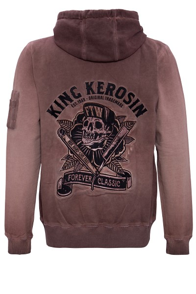 KING KEROSIN Sweatjacke mit Stickerei hinten Ride Hard - Live Fast