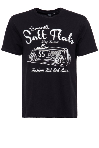 King Kerosin Shirt mit Frontdruck im Racing-Style Salt Flats