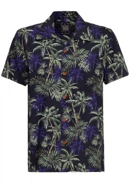 Hawaii Hemd »Dark Flowers«