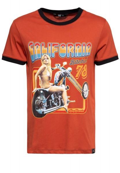 Contrast T-Shirt »California Bitchin'«