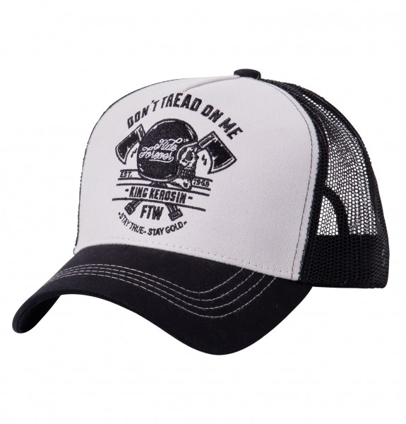 KING KEROSIN Trucker Cap mit Front-Stickerei Don't Tread On Me