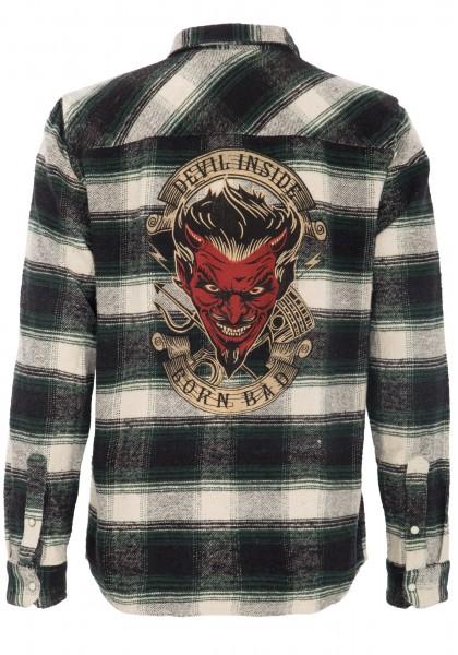 "KING KEROSIN Flanell Hemd mit ""Devil Inside"" Stickerei hinten"