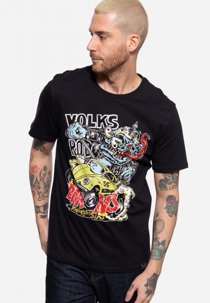 T-Shirt mit Frontprint »Volksrod Barons«