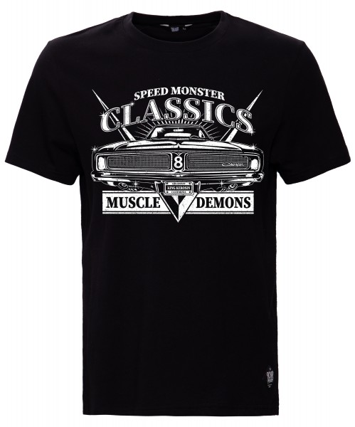KING KEROSIN Print T-Shirt mit Front Print Muscle Demons