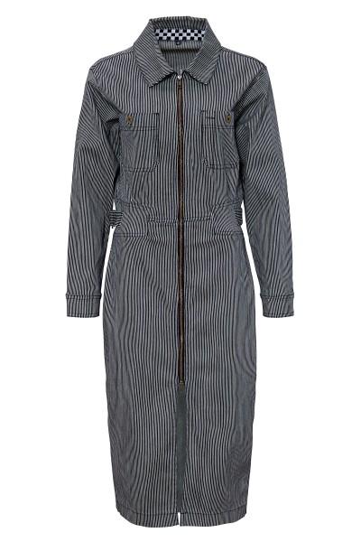 QUEEN KEROSIN Jeanskleid im Workwear-Style